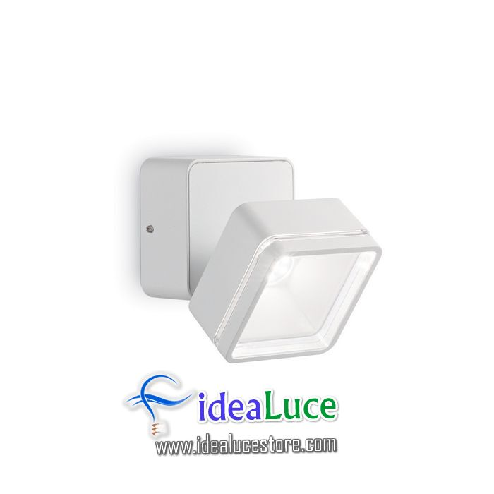 Lampada da parete Applique Ideal Lux Omega SQUARE AP1 BIANCO 172507