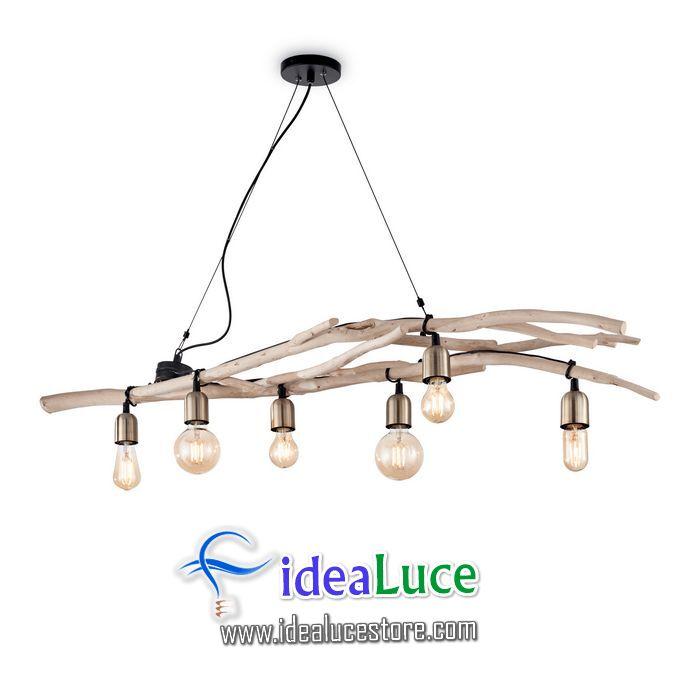 Lampadario sospensione Ideal Lux Driftwood SP6 180922