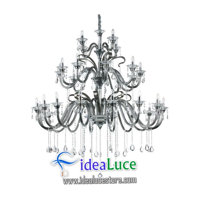 Lampadario sospensione Ideal Lux Colossal Sp30 Grigio 183077