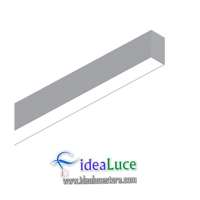 Fluo Wide 1200 3000k Aluminum Ideal Lux 191447