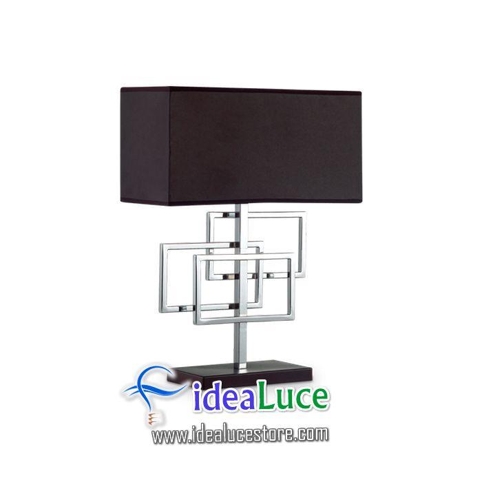 Lampada da tavolo Ideal Lux Luxury Tl1 Cromo 201078