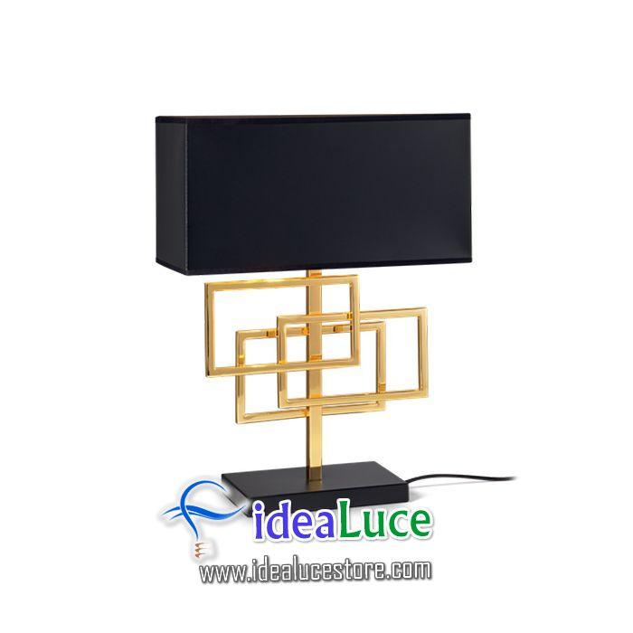 Lampada da tavolo Ideal Lux Luxury Tl1 Ottone 201115