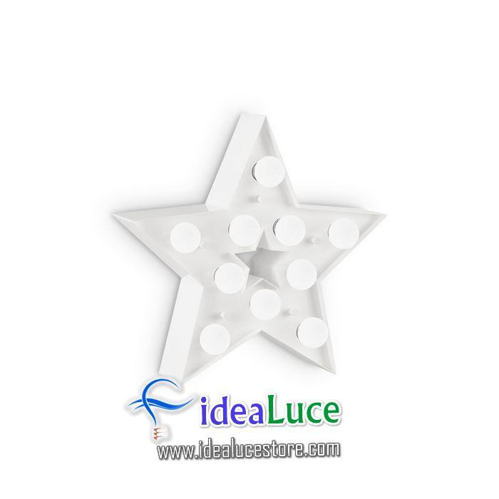 Lampada da parete Applique Ideal Lux Circus-2 Ap10 Bianco 203041