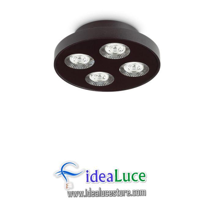 Plafoniera Ideal Lux Garage Pl4 Round Nero 205816