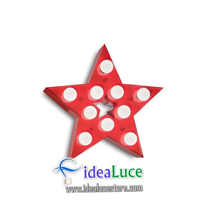 Lampada da parete rossa Applique Ideal Lux Circus-2 Ap10 Rosso 221342
