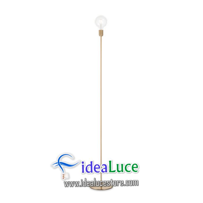 lampada da terra ideal lux microphone pt1 ottone 232409