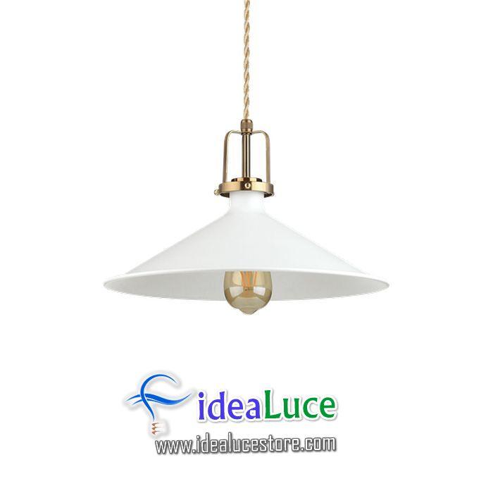 Lampadario sospensione Ideal Lux Eris-4 Sp1 Bianco 238210