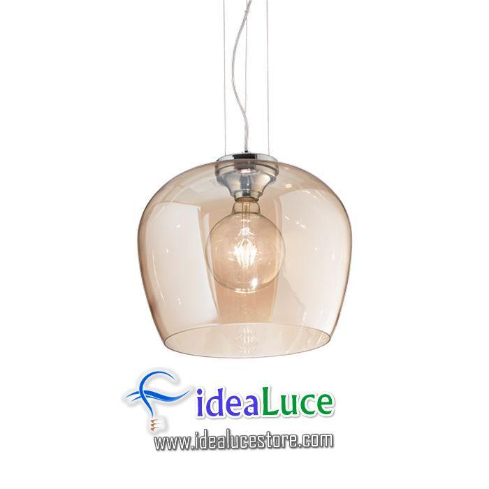 Lampadario sospensione Ideal Lux Blossom Sp1 Ambra 241524