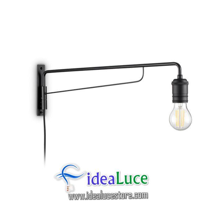 Lampada da parete Applique Ideal Lux Triumph Ap1 Nero 242392