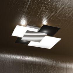 Plafoniera Top Light Shadow Nera 1088 PL 70 NE