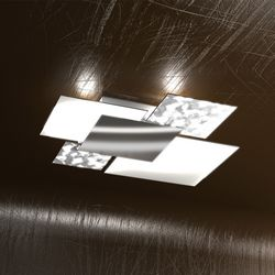 Plafoniera Top Light Shadow Foglia Argento 1088 PL 70 FA