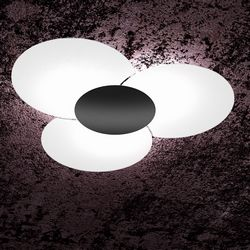 Plafoniera Top Light Clover Nera 1114/100NE