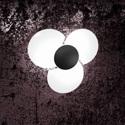 Plafoniera Top Light Clover Nera 1114/45NE