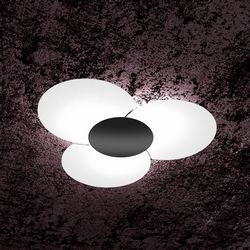 Plafoniera Top Light Clover Nera 1114/70NE