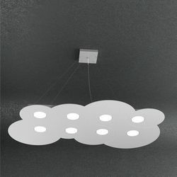Sospensione Top Light Cloud Led Grigia 128/S8 R GR