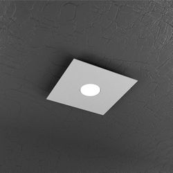 Plafoniera Top Light Plate Led Grigia 1129/PL1 GR
