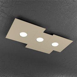 Plafoniera Top Light Plate Led Sabbia 1129/PL3 R SA