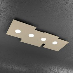 Plafoniera Top Light Plate Led Sabbia 1129/PL4 R SA