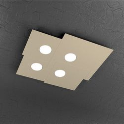 Plafoniera Top Light Plate Led Sabbia PL4 1129/PL4 SA