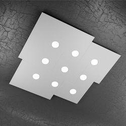 Plafoniera Top Light Plate Led Grigia 1129/PL9 GR