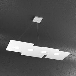 Sospensione Top Light Plate Led Bianca 1129/S4 R BI