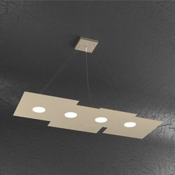 Sospensione Top Light Plate Led Sabbia 1129/S4 R SA