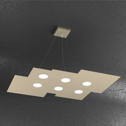 Sospensione Top Light Plate Led Sabbia 1129/S6 R SA