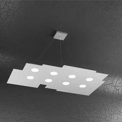 Sospensione Top Light Plate Led Grigia 1129/S8 R GR