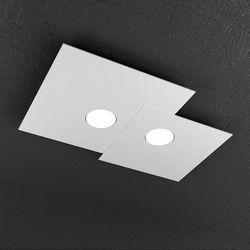 Plafoniera Top Light Plate Led Bianca 1129/PL2 R