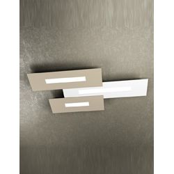 Plafoniera Top Light Wally Led Bianco-Sabbia 1138/M3 BS