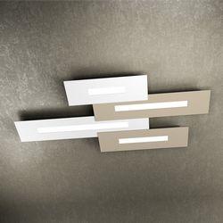Plafoniera Top Light Wally Led Bianco-Sabbia 1138/M4 BS