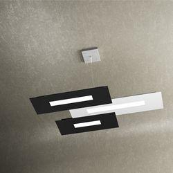 Sospensione Top Light Wally Led Bianco-Nero 1138/S3 BN