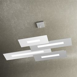 Sospensione Top Light Wally Led Bianco-Grigio 1138/S4 BG