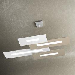 Sospensione Top Light Wally Led Bianco-Sabbia 1138/S4 BS