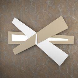 Plafoniera Top Light Ribbon Led Bianco-Sabbia 1139/A105 BS