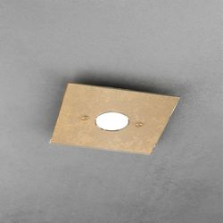 Plafoniera Top Light Path Led Foglia Oro 1141/PL1 FO