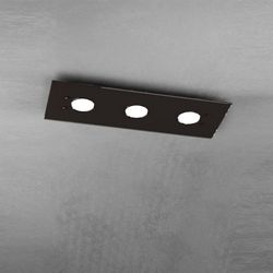 Plafoniera Top Light Path Led Marrone  1141/PL3 MA