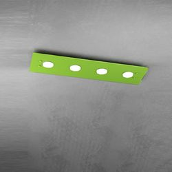 Plafoniera Top Light Path Led Verde 1141/PL4 R VE