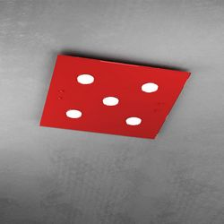 Plafoniera Top Light Path Led Rosso 1141/PL5 RO