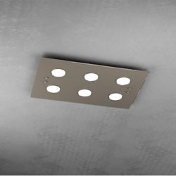 Plafoniera Top Light Path Led Tortora 1141/PL6 TO
