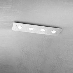 Plafoniera Top Light Path Led Foglia Argento 1141/PL4 R FA