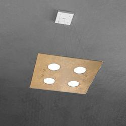Sospensione Top Light Path Led Foglia Oro 1141/S4 FO