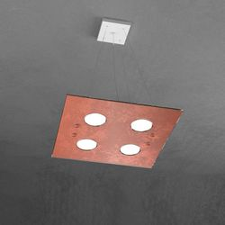 Sospensione Top Light Path Led Foglia Rame 1141/S4 FR