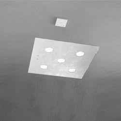 Sospensione Top Light Path Led Foglia Argento 1141/S5 FA