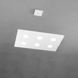Sospensione Top Light Path Led Bianco 1141/S6 BI