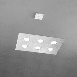 Sospensione Top Light Path Led Foglia Argento 1141/S6 FA