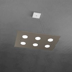 Sospensione Top Light Path Led Tortora 1141/S6 TO