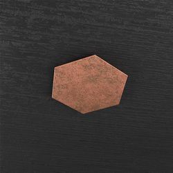 Plafoniera Top Light Hexagon Led Foglia Rame 1142/1D FR