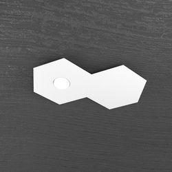 Plafoniera Top Light Hexagon Led Bianco 1142/1L1D BI