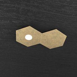 Plafoniera Top Light Hexagon Led Foglia Oro 1142/1L1D FO